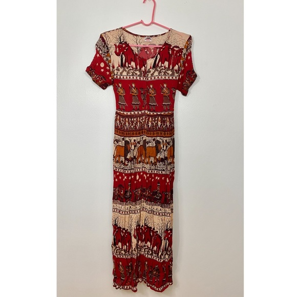 Vintage - Novelty Print Maxi Dress
